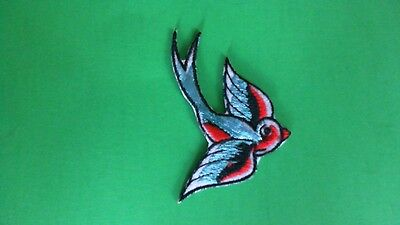 Swallows Pair White and Green Motorcycle Patch Biker Patch Lady Biker Patch