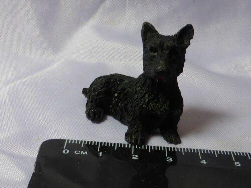 Cachorro De Resina Escala 1:12 Miniatura Casa Boneca d24 Acessório Pet