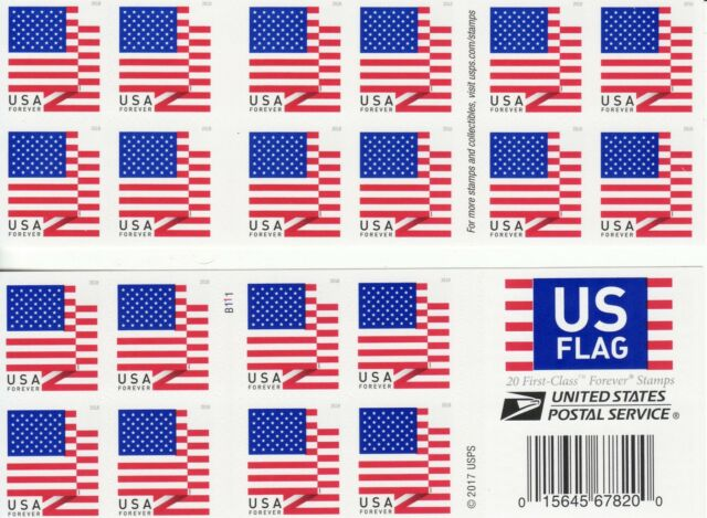 US FLAG STAMP BOOKLET USA FOREVER 2018 DOUBLE SIDED