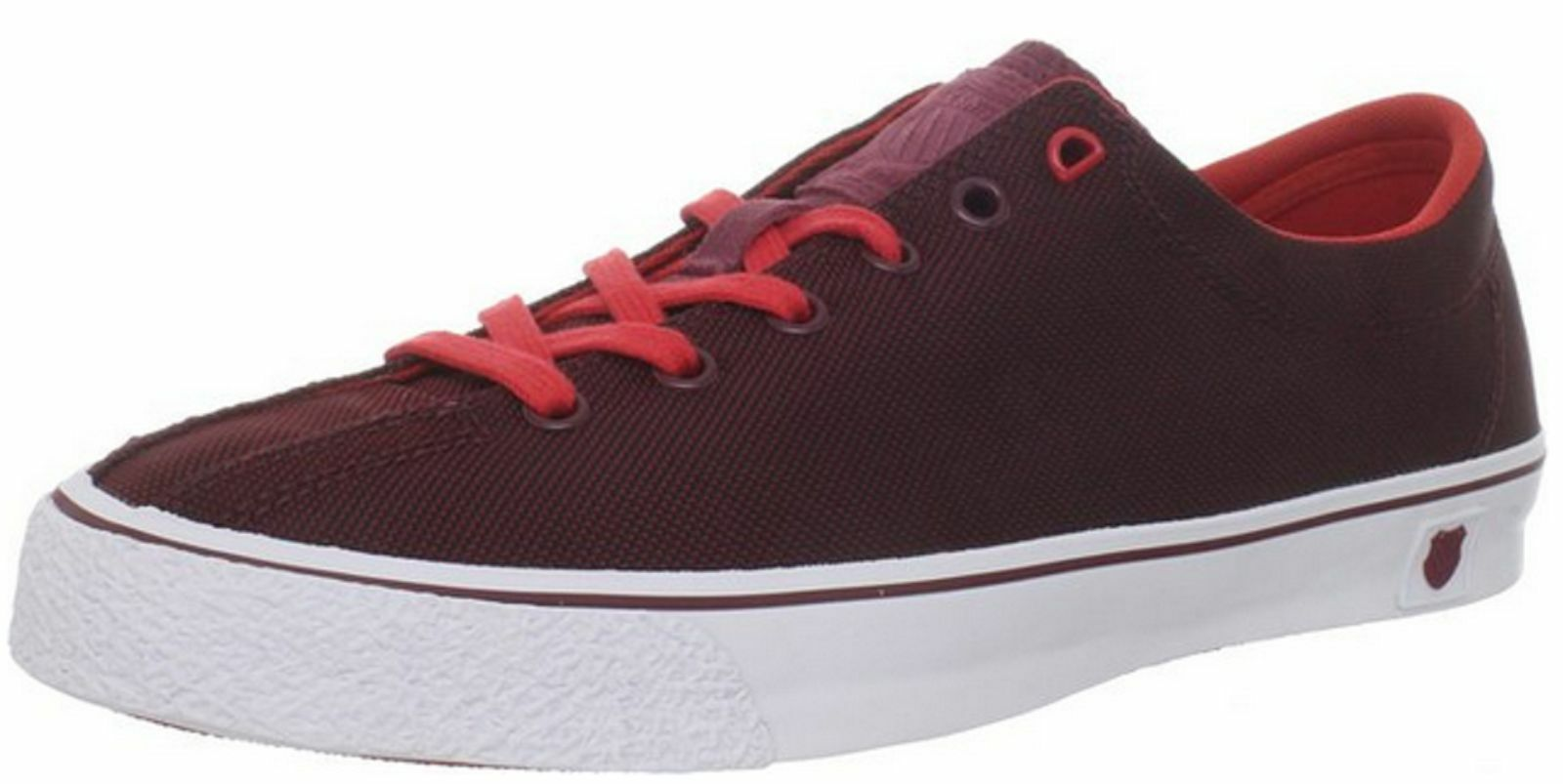 K SWISS 72925-634 CLEAN LAGUNA LOW Mn's (M) Red White Textile Lifestyle shoes
