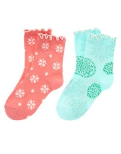 GYMBOREE SNOWFLAKE GLAMOUR FLOWER 2-pair OF GIRLS SOCKS 3 4 5 7 8 9 10 NWT