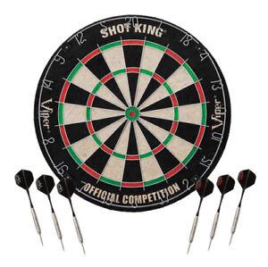 dartboard shot king sisal bristle steel tip staple bullseye 6 darts