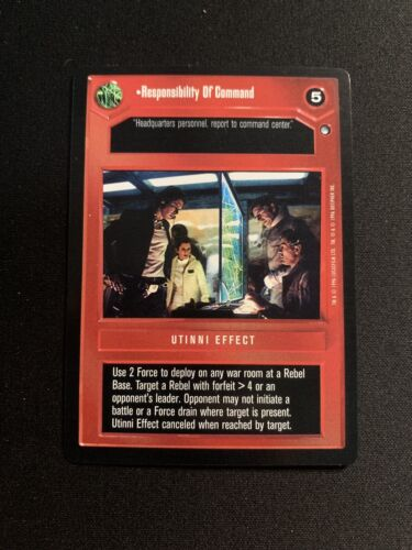 STAR WARS CCG Hoth RESPONSIBILITY OF COMMAND