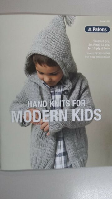 Patons Pattern Book 1317 Hand Knits For Modern Kids In Totem Jet