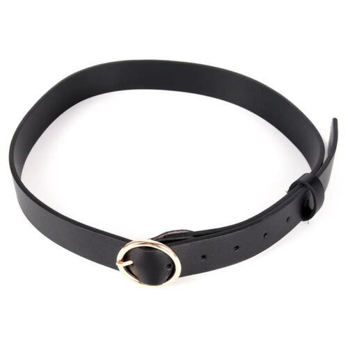 Retro Waist Belt Large Metal Ring /& Thin Waist Fringe Pu Leather Belt Hoop DZ