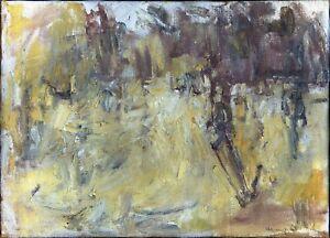 Russischer-Realist-Expressionist-Ol-Leinwand-034-Herbst-034-69-x-50-cm