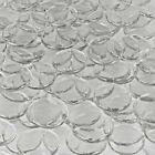 Large Clear Decorative Mosaic Glass Gems Pebbles Tiles ,Decoration Wafers, 30 mm