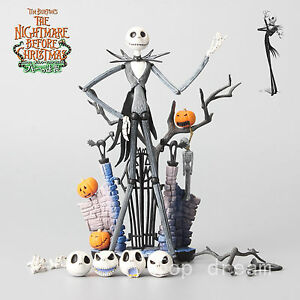 New-The-Nightmare-Before-Christmas-Jack-Skellington-Figure-Set-Toy-7-039-039-In-Box-FS