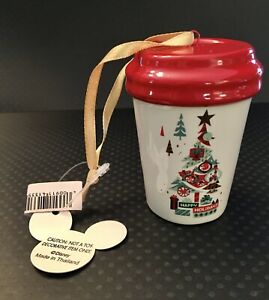Disney Parks Starbucks Been There Hollywood Studio Tumbler Ornament New with Tag