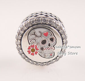 Details about DAY OF THE DEAD Genuine PANDORA White Sugar Skull HALLOWEEN  Charm ENG792016CZ_30