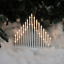 33-Light-Candle-Bridge-Arch-Christmas-Window-Table-Decoration-Silver-White-Black thumbnail 2