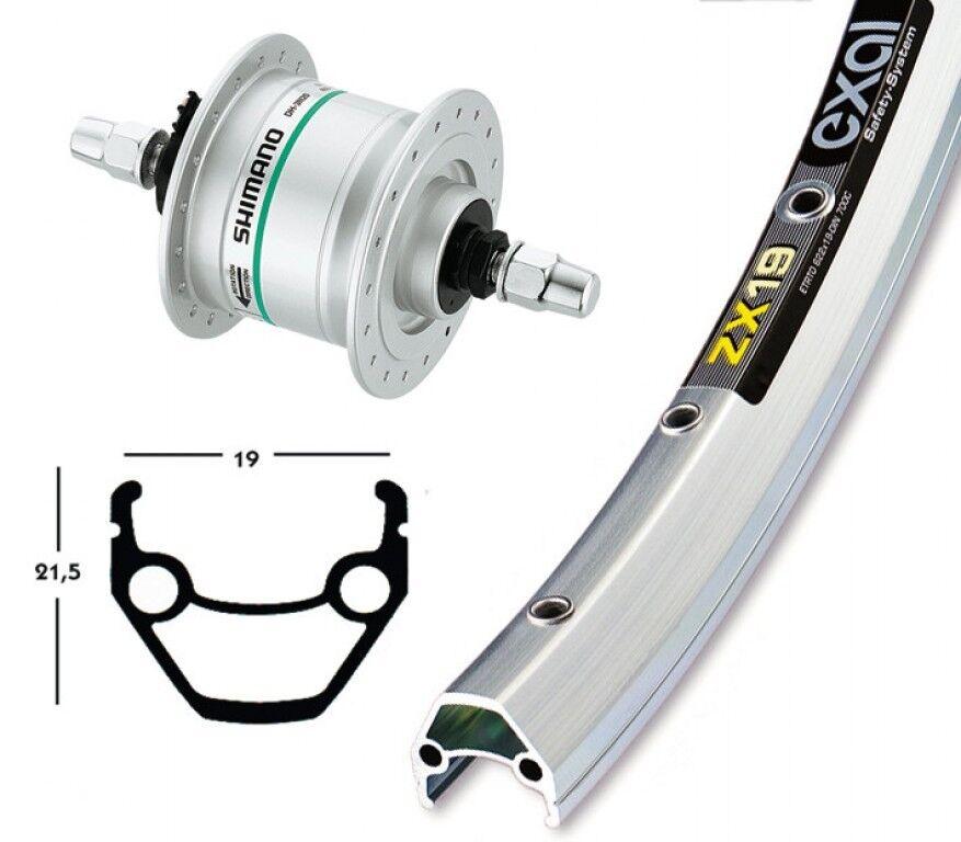Bike-Parts 26″ Front Wheel Exal Zx 19 + Hub Dynamo Shimano Dh-c3003