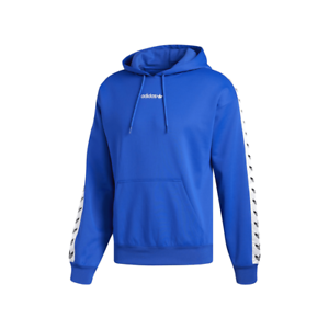 competitive price 100% authentic the cheapest Details about Adidas Originals Trefoil Logo Adicolor TNT Tapped Hoodie Blue  CE1636