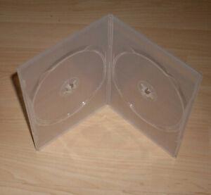 3 DVD Hüllen Case Slim 2fach transparent Slimm dünn 7mm Doppelhülle 2 DVDs Neu