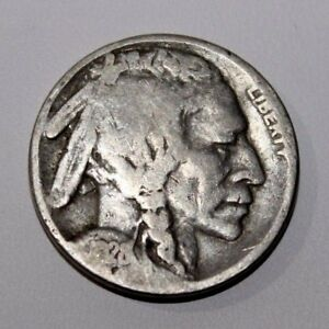 1928-S-5c-Buffalo-Nickel-Five-Cent-Old-Type
