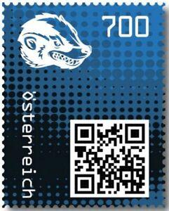 Crypto-Stamp-2-0-Honigdachs-BLAU-im-Folder-Postfrisch-MNH-4-Bilder-gt