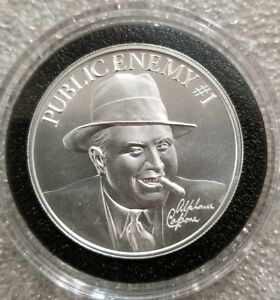 Al-Capone-Public-Enemy-1-2-oz-999-silver-round-Chicago-Gangster-prohibition
