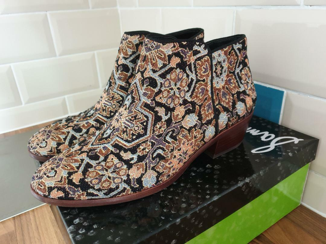 Ladies Sam Sam Sam Edelman Petty Turk tapestry ankle Boots UK 9, Brand new boxed 3a9d9f