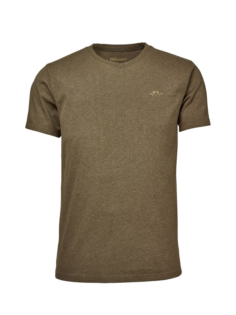 NEW  Blaser T-Shirt V Classic - 2 colors - Reed Melange Beige Melange 118019