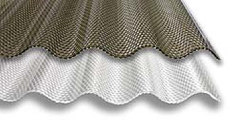 /m² | Acryl - Lichtplatte 76/18 Sinusplatte Wabe 3,0 mm klar