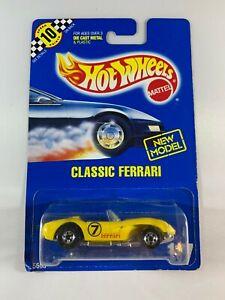 Hot-Wheels-Vintage-Blue-Card-New-Model-Classic-Ferrari-250-117-BOXED-POST
