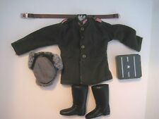 VINTAGE G.I. JOE RUSSIAN INFANTRY UNIFORM JACKET FUR HAT BELT