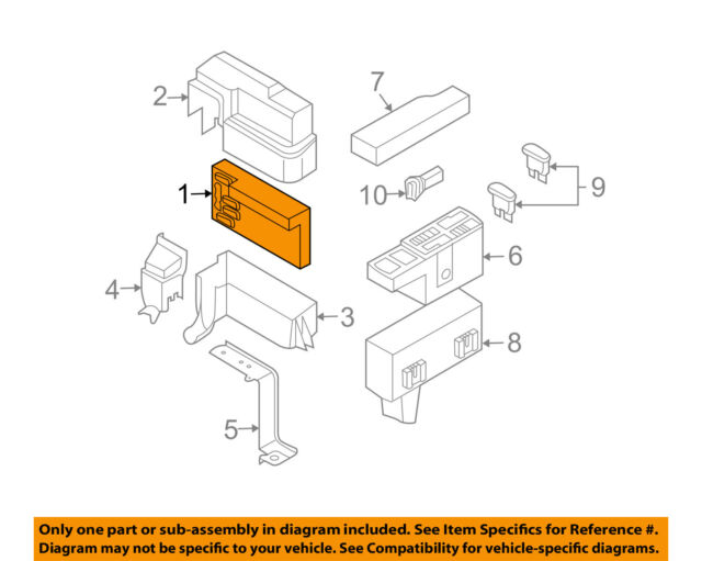 nissan oem electrical-ipdm-intelligent power distribution module 284b7ck02a