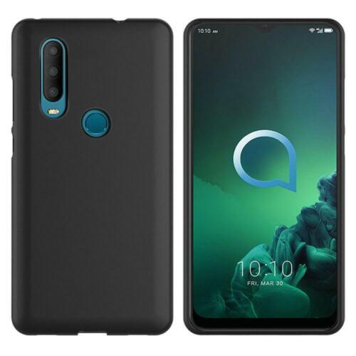 2020 Para Alcatel 1S Protector de pantalla 5028Y Negra transparente TPU Gel Goma Teléfono Estuche