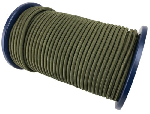 Stabil,Heavy Duty Gummizug Seil,Fessel,Olive Khaki 12mm Elastisch Gummiseil
