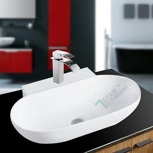 565x400x135mm-Ceramic-wash-Basin-Wall-hung-counter-top-Vanity-sink-Gloss-white