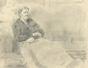 Jean Dryden Alexander (1911-1994) - Graphite Portrait of a Woman and Two More