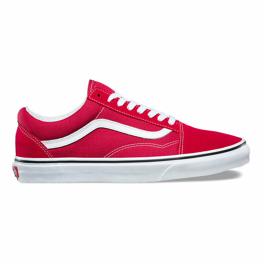 newest 186c7 04c0a Vans - Old Skool Mens Crimson Skate schuhe Crimson Mens Weiß b5cb70
