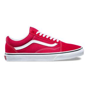 crimson red vans