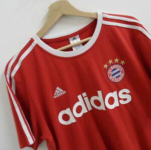 Details about Adidas Mens F.C. Bayern Munchen T Shirt Size Medium Original : TS121