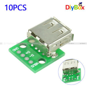 10Pcs-Female-Type-A-USB-To-DIP-2-54MM-PCB-Board-Adapter-Converter-For-Arduino
