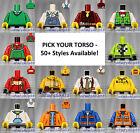 LEGO - Torsos CITY Male - PICK YOUR STYLE - Minifigure Body Parts Vest Jacket A