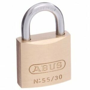ABUS Padlock 55/30 30mm -KEYED ALIKE Brass Bodied Padlocks-FREE POST