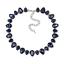 Strass-Tropfen-Glamour-Design-Kette-Halskette-Collier-Silber-Plattiert-Neu Indexbild 8