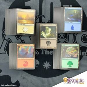 Magic: The Gathering 150 Basic Lands (Standard Länder) 30x jede Farbe
