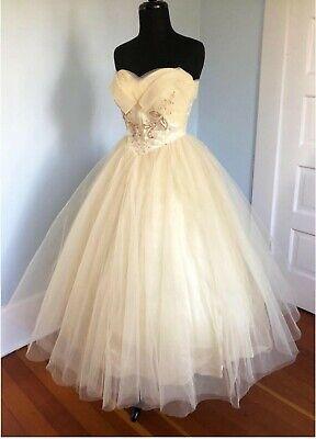 1950s Vintage Wedding dress/ Formal Dress