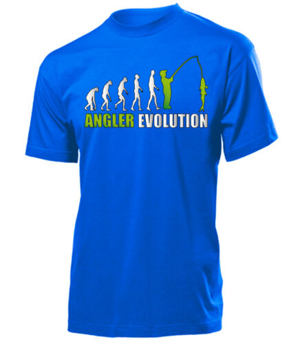 T-Shirt Herren S-XXL ANGLER EVOLUTION ANGELN