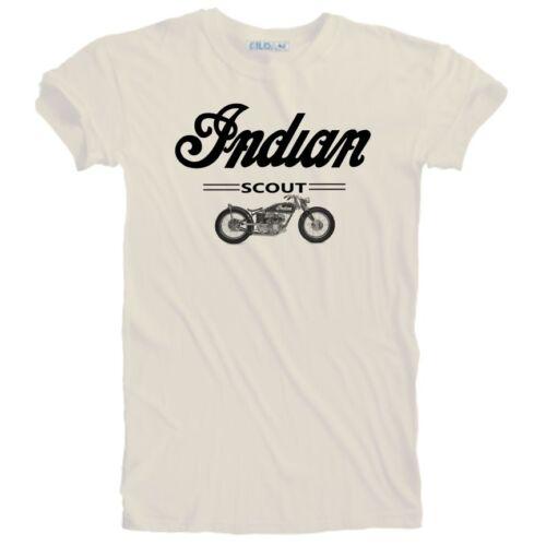 Unisex Vintage 1921 Indian Scout Motorcycle Biker Premium T-Shirt Sizes S to 5XL