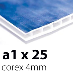 A1 4mm Corex x 25 Sign BoardsPrinted UV Full ColourFree Delivery!