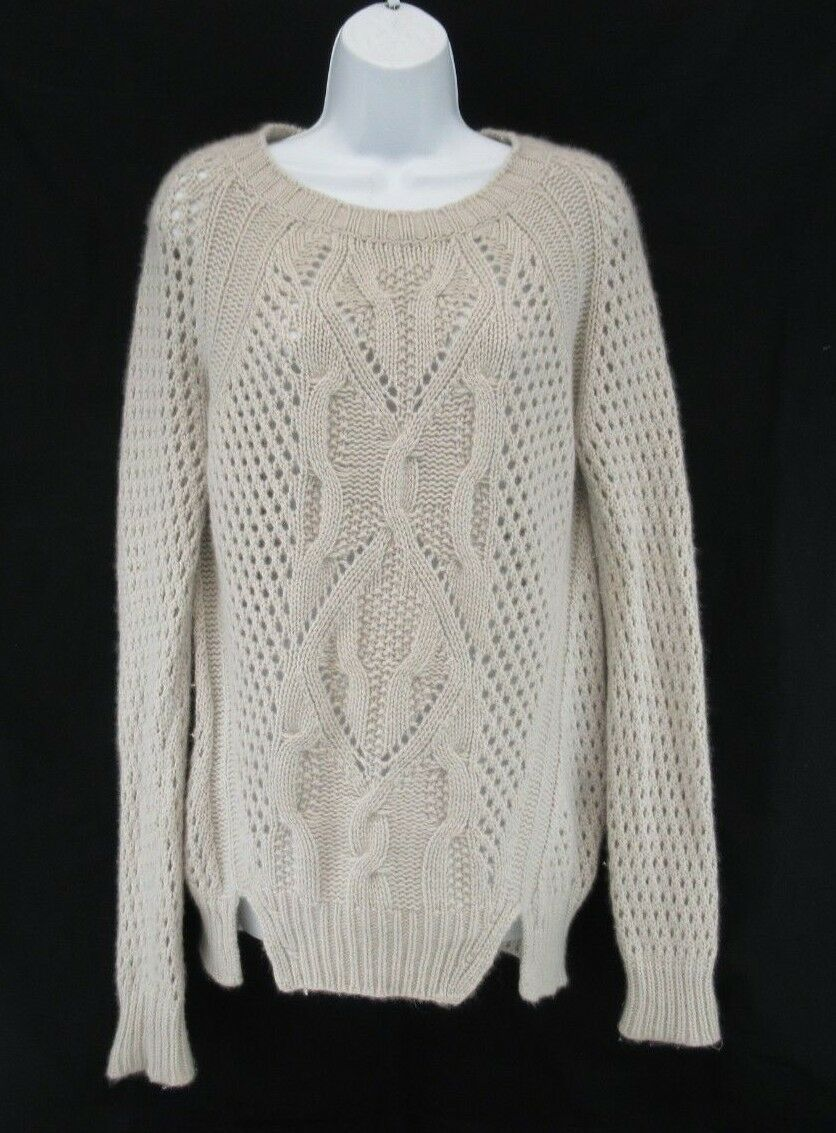 Massimo Dutti 100 % Cashmere Long Sleeve Sweater Made in  Size S  C802
