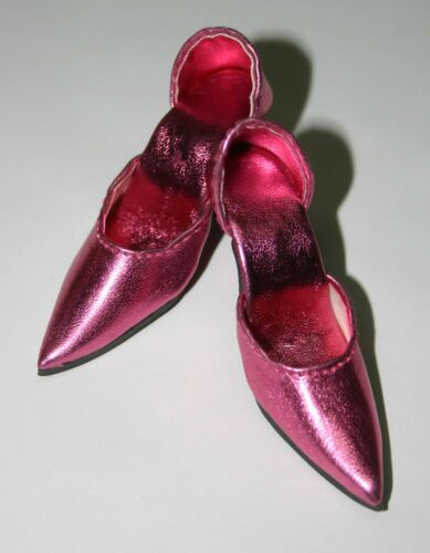 Med. Pink Metallic Easy to Wear High Heels Shoes 72mm 22 American Model Tonner