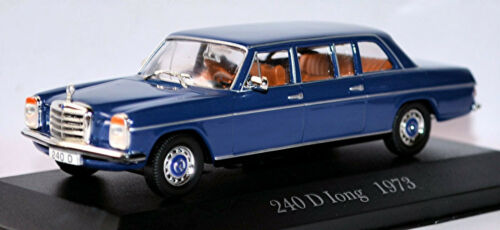 Mercedes Benz 240 d Long 8 stroke eight w115 Pullman 1973 Blue azul 1:43