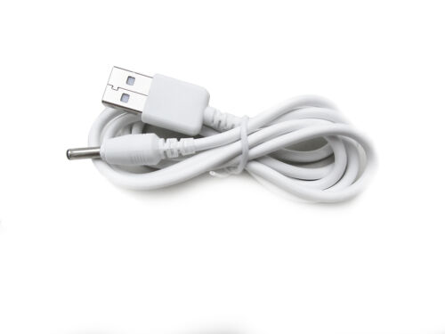 90cm USB White Charger Cable for Levana Astra Parent Unit 32006 Baby Monitor
