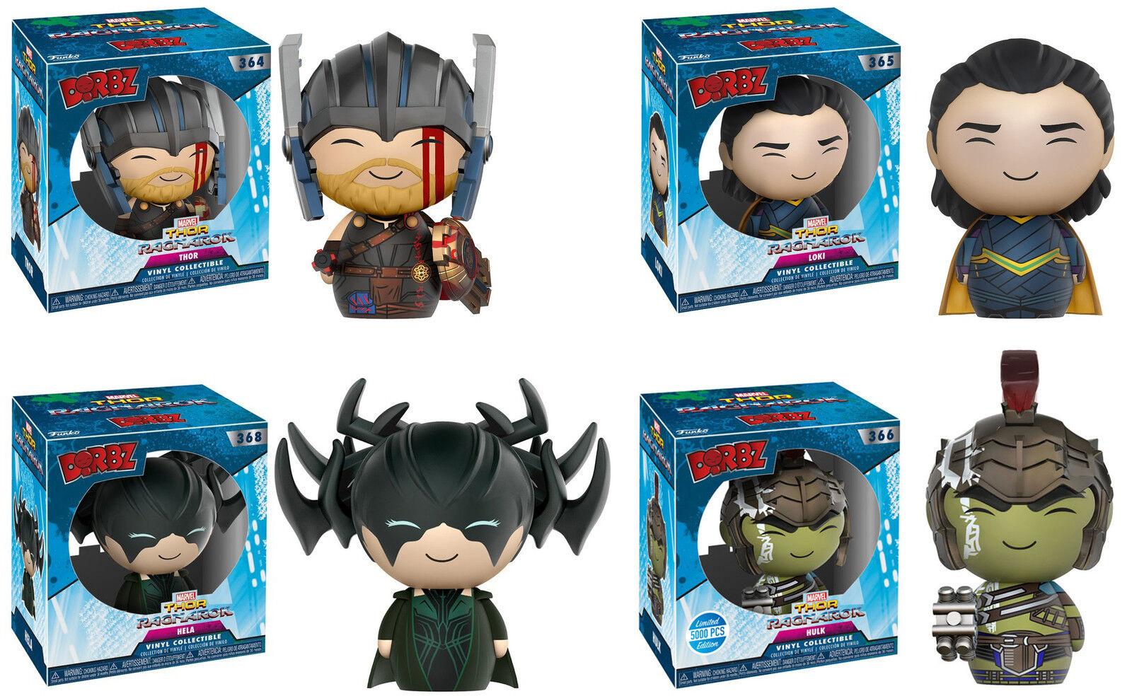 Funko dorbz  Thor  Ragnarok Vinilo 4-Figura Set  Thor, Hela, Loki, Hulk  Marvel