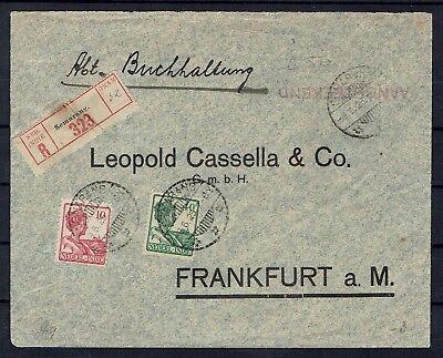 Zielsetzung Niederländisch 146 Am 9.6.1925 Schnelle Farbe Indien R-brief Ab Semarang Mit Mif Minr 115