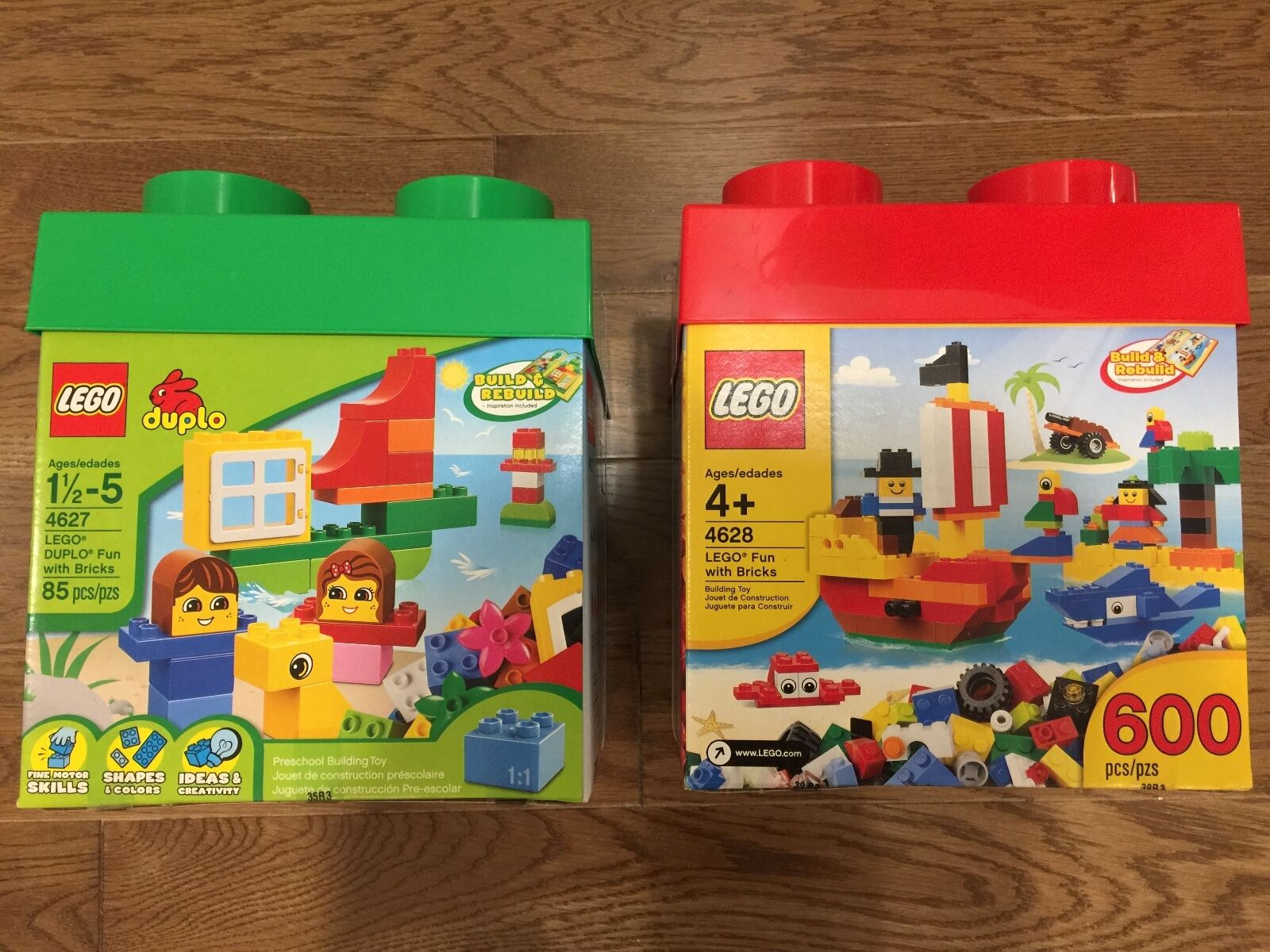 Nuovo Sealed in Box LEGO® & Duplo Creative 85 & 600 Building Set 4627 4628